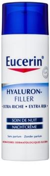 Eucerin Hyaluron-Filler Nachtcreme gegen Falten für trockene bis sehr trockene Haut