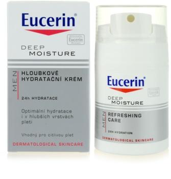 Eucerin Men crème hydratante peaux sensibles