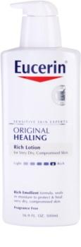 Eucerin Original Healing leite corporal nutritivo  para pele muito seca