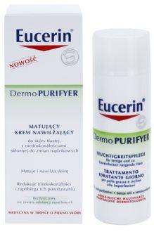 Eucerin Dermo Purifyer zmatňujúci krém pre problematickú pleť, akné