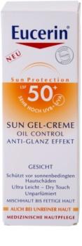 Eucerin Sun crema-gel cu efect de protectie a fetei SPF 50+
