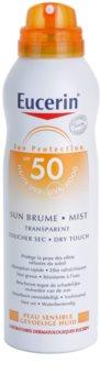 Eucerin Sun transparentna meglica za sončenje SPF 50