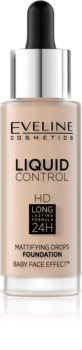 Eveline Cosmetics Liquid Control tekutý make-up s pipetou