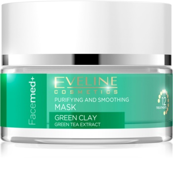 Eveline Cosmetics FaceMed+ maschera viso detergente e lisciante all'argilla verde