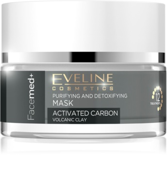 Eveline Cosmetics FaceMed+ maschera detergente e detossinante al carbone attivo