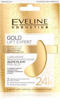 Eveline Cosmetics Gold Lift Expert szem maszk a duzzanat és sötét karikák