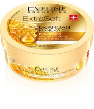 Eveline Cosmetics Extra Soft crème hydratante corps et visage à l'huile d'argan