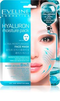 Eveline Cosmetics Hyaluron Moisture Pack super vlažilna pomirjevalna tekstilna maska