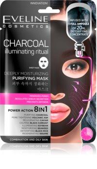 Eveline Cosmetics Charcoal Illuminating Ritual Super Hydraterende Reinigings Textiel Masker