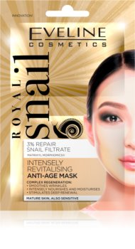 Eveline Cosmetics Royal Snail revitalizacijska maska za obraz s pomlajevalnim učinkom