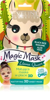Eveline Cosmetics Magic Mask Lama Queen matirajuća maska za normalizaciju kože 3D