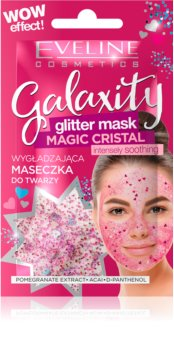 Eveline Cosmetics Galaxity Glitter Mask maschera in gel con glitter