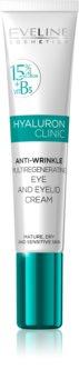 Eveline Cosmetics Hyaluron Clinic gladilna krema za predel okoli oči SPF 15