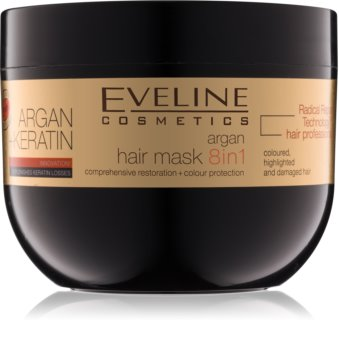 Eveline Cosmetics Argan + Keratin maska na vlasy s keratínom a argánovým olejom