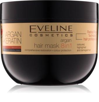 Eveline Cosmetics Argan + Keratin maska za kosu s keratinom, kolagenom i arganovim uljem