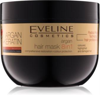 Eveline Cosmetics Argan + Keratin maska za lase s keratinom in arganovim oljem