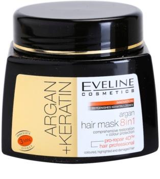 Eveline Cosmetics Argan + Keratin Haarmaske 8 in 1