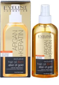 Eveline Cosmetics Argan + Keratin olejek do włosów 8 w 1