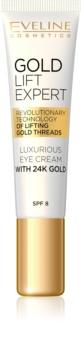 Eveline Cosmetics Gold Lift Expert luxus krém szemre és szemhéjra 24 karátos arannyal
