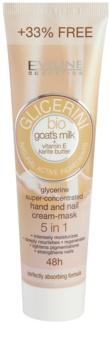 Eveline Cosmetics Glycerine creme para mãos e unhas com leite de cabra
