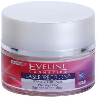 Eveline Cosmetics Laser Precision creme de dia e noite para tratamento antirrugas 50+