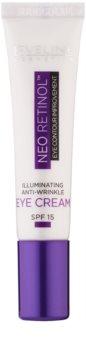 Eveline Cosmetics Neo Retinol aufhellende Augencreme gegen Falten LSF 15