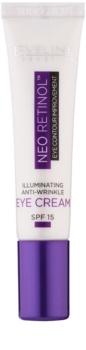 Eveline Cosmetics Neo Retinol crema de ochi pentru iluminare si anti-rid SPF 15