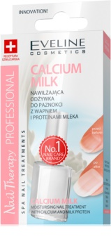 Eveline Cosmetics Nail Therapy Professional Moisturizing Nail Treatment with Calcium and Milk Proteins