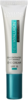 Eveline Cosmetics New Hyaluron glättende Augencreme LSF 15