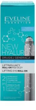 Eveline Cosmetics New Hyaluron Lifting-Augen Roll-On mit kühlender Wirkung 2 in 1