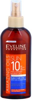 Eveline Cosmetics Sun Care napozó olaj spray -ben SPF 10