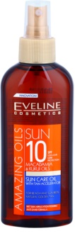 Eveline Cosmetics Sun Care óleo bronzeador em cápsulas  SPF 10