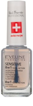 Eveline Cosmetics Total Action lac de unghii intaritor 8 in 1