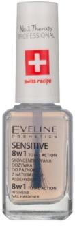 Eveline Cosmetics Total Action spevňujúci lak na nechty 8 v 1
