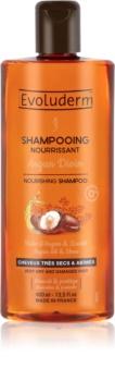Evoluderm Argan Divin odżywczy szampon z olejkiem arganowym marokńskim do włosów suchych i zniszczonych