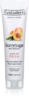 Evoluderm Face Care Face Scrub With Peach Extract