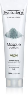 Evoluderm Purifying masque visage purifiant à l'argile pour tous types de peau