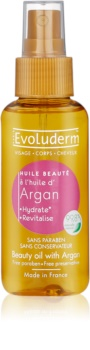 Evoluderm Beauty Oil zkrášlující olej na pleť a vlasy s arganovým olejem