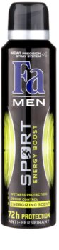 Fa Men Sport Energy Boost antitranspirante em spray