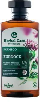 Farmona Herbal Care Burdock šampón pre mastnú vlasovú pokožku a suché končeky
