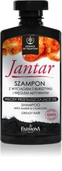 Farmona Jantar shampoing au charbon actif pour cheveux gras