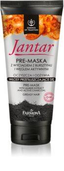 Farmona Jantar maska na vlasy s aktívnym uhlím pre mastné vlasy