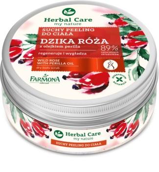 Farmona Herbal Care Wild Rose vyhladzujúci telový peeling s regeneračným účinkom