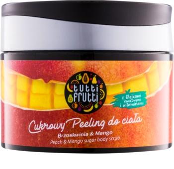 Farmona Tutti Frutti Peach & Mango cukros test peeling