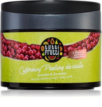 Farmona Tutti Frutti Pear & Cranberry exfoliant din zahar pentru corp