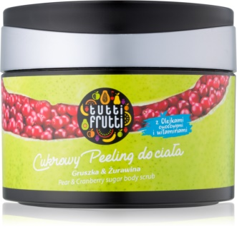 Farmona Tutti Frutti Pear & Cranberry exfoliante a base de azúcar para el cuerpo