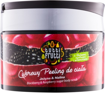 Farmona Tutti Frutti Blackberry & Raspberry cukros test peeling