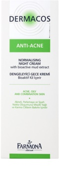 Farmona Dermacos Anti-Acne normalizační noční krém regulující činnost mazových žláz