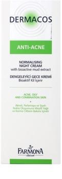 Farmona Dermacos Anti-Acne normalizačný nočný krém regulujúci činnosť mazových žliaz