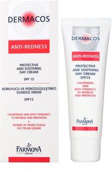 Farmona Dermacos Anti-Redness crema de día protectora y calmante  SPF15